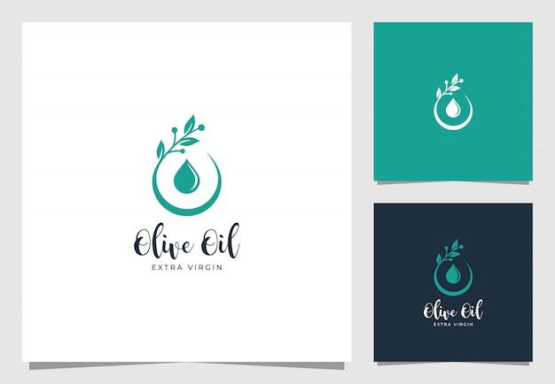 Logo Premium Goutte D'huile D'olive Vecteur Premium