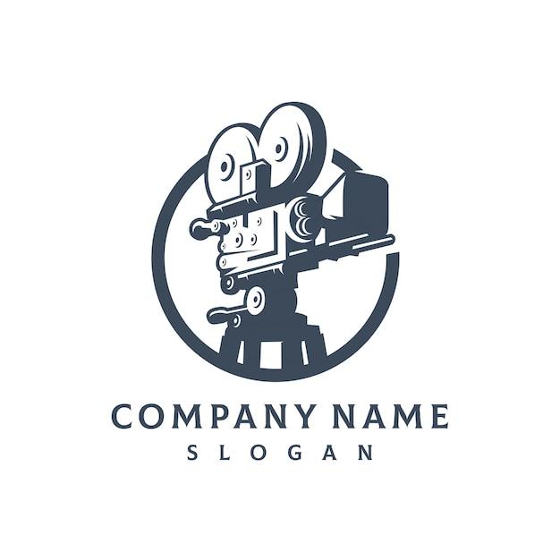 Logo des productions vidéo Vecteur Premium