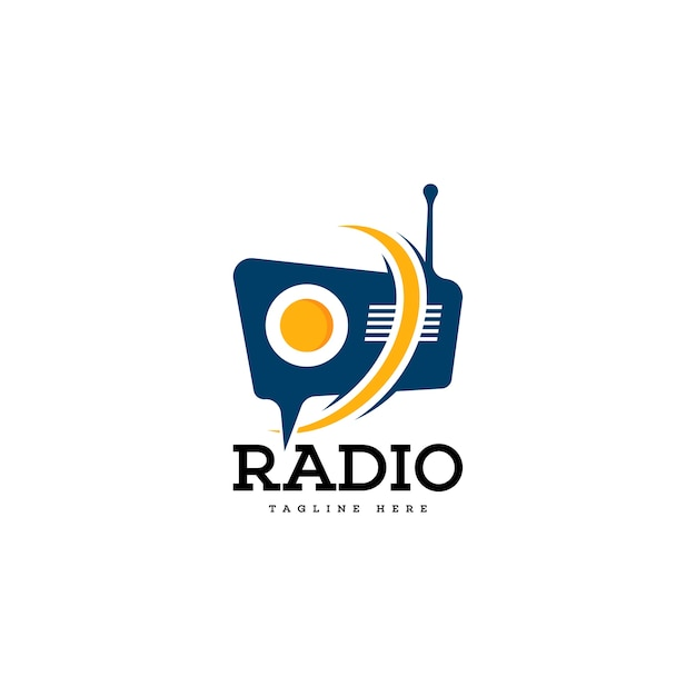 Logo radio Vecteur Premium