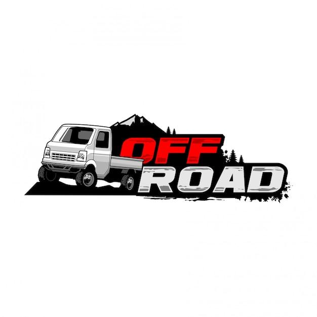 Logo De Ramassage Hors Route Vecteur Premium