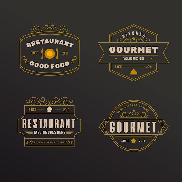 Logo De Restaurant Rétro Vecteur gratuit
