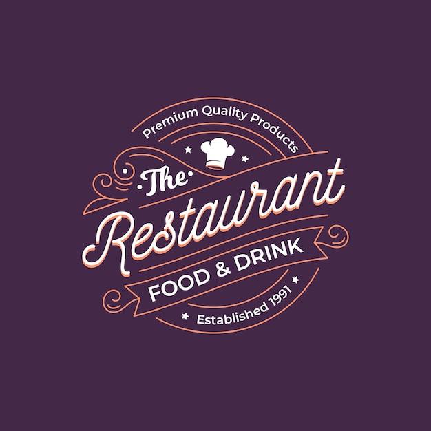 Logo De Restaurant Rétro Vecteur Premium