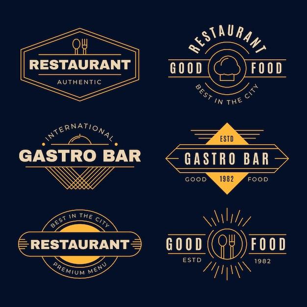 Logo De Restaurant Vintage Avec Un Design Doré Vecteur gratuit