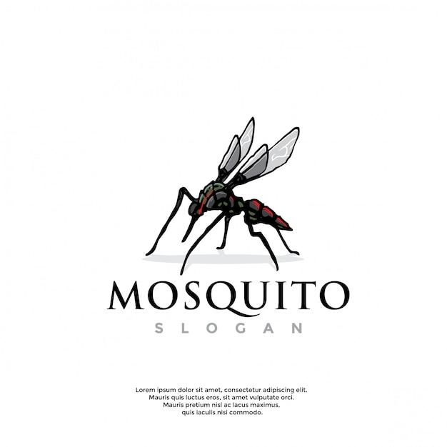 Logo De Robot Moustique Dessiné à La Main Vecteur Premium