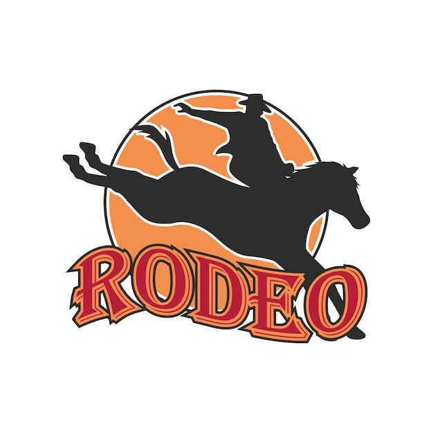 Logo De Rodéo Pour Votre Entreprise De Sport Vecteur Premium