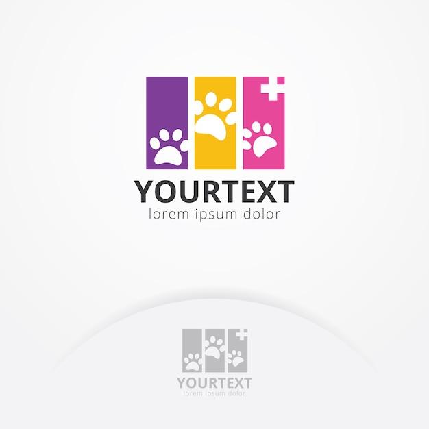 Logo de santé animale Vecteur Premium