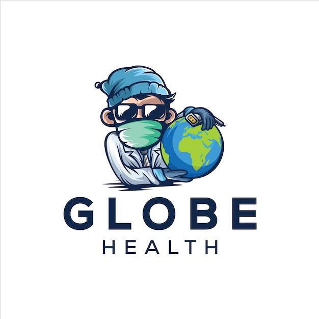 Logo De Santé Du Globe Vecteur Premium