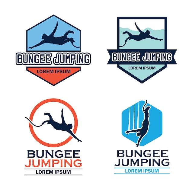Logo de saut à l'élastique Vecteur Premium