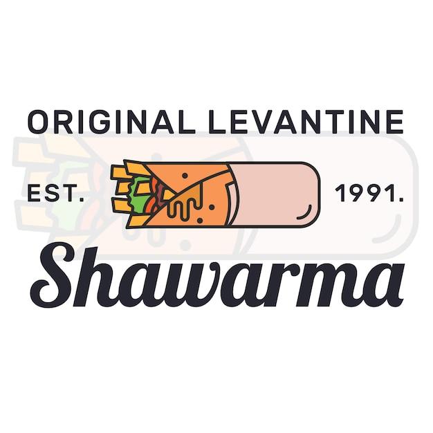 Logo Shawarma Vecteur gratuit