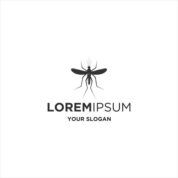 Logo De Silhouette Animale Moustique Vecteur Premium