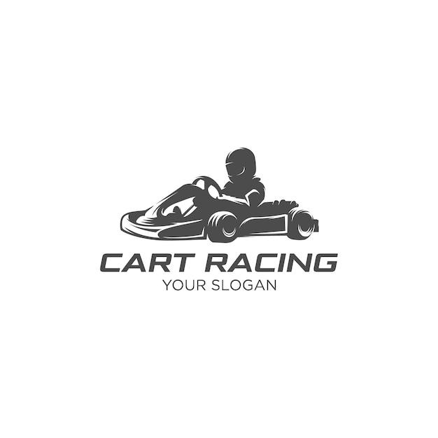 Logo De Silhouette De Course Sport Panier Vecteur Premium
