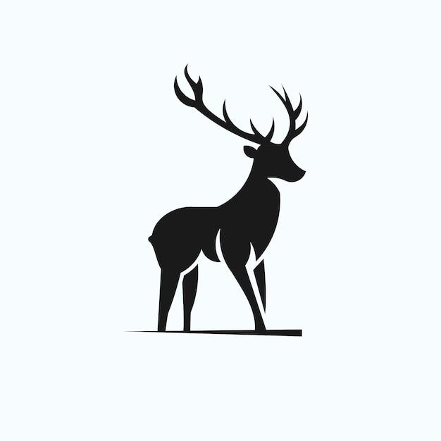 Logo silhouette deer Vecteur Premium