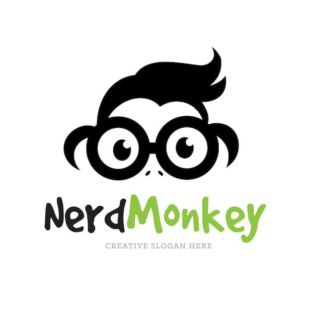 Logo De Singe, Modèle De Logo Chimp. Vecteur Premium