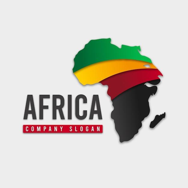 Logo De Slogan De Société Carte Afrique Vecteur gratuit