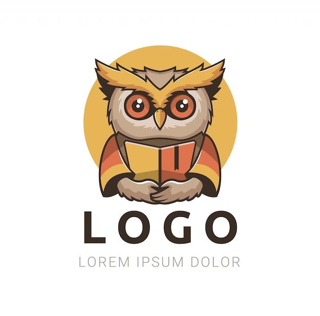 Logo Smart Owl Vecteur Premium