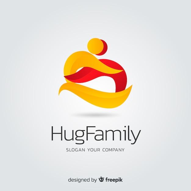 Logo de société abstrait plat dégradé Vecteur gratuit