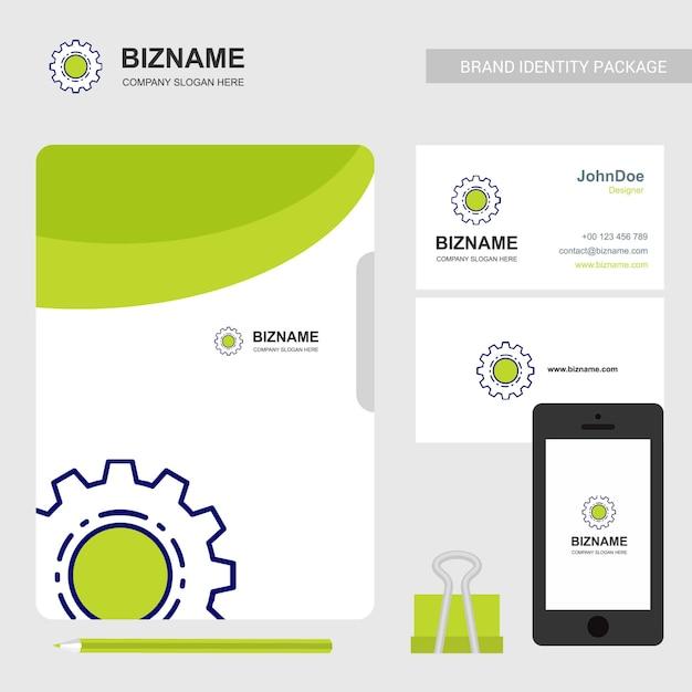 Logo de la société de services et de la papeterie Vecteur Premium