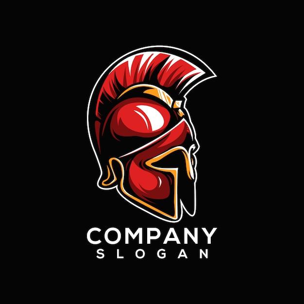 Logo spartiate Vecteur Premium
