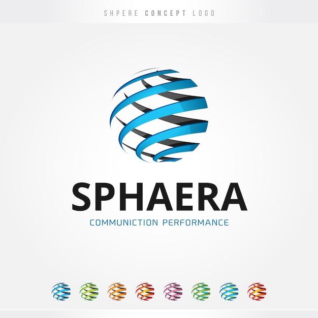 Logo De La Sphère De Performance Vecteur Premium