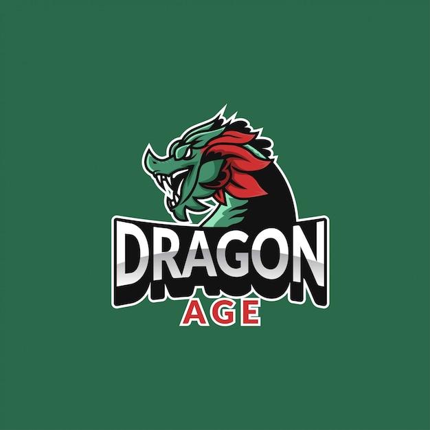 Logo sport âge dragon Vecteur Premium