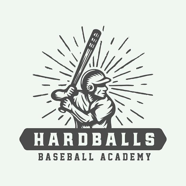 Logo De Sport De Baseball Vecteur Premium