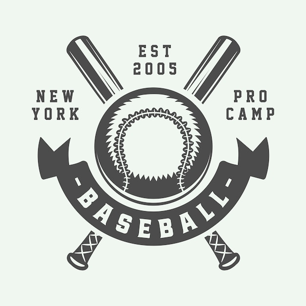 Logo Sport De Baseball Vecteur Premium