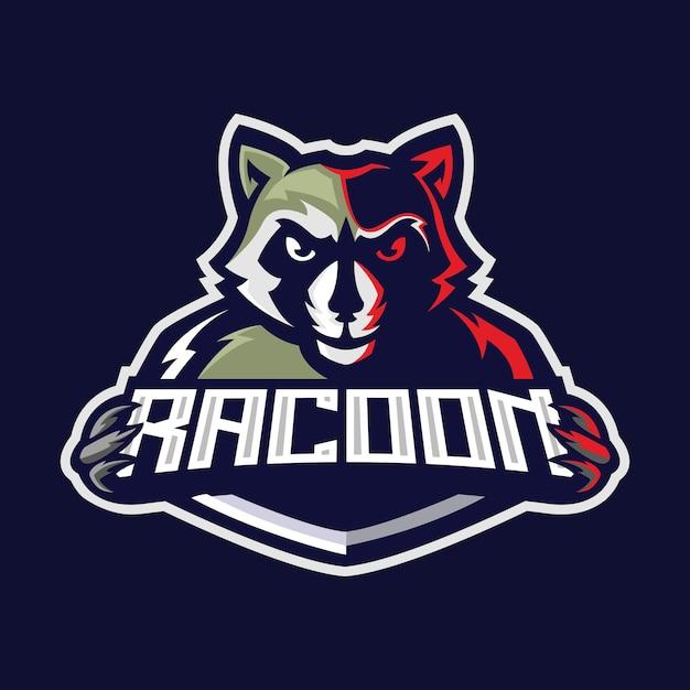 Logo De Sport E De Raton Laveur Vecteur Premium