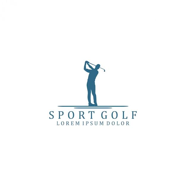 Logo de sport de golf Vecteur Premium