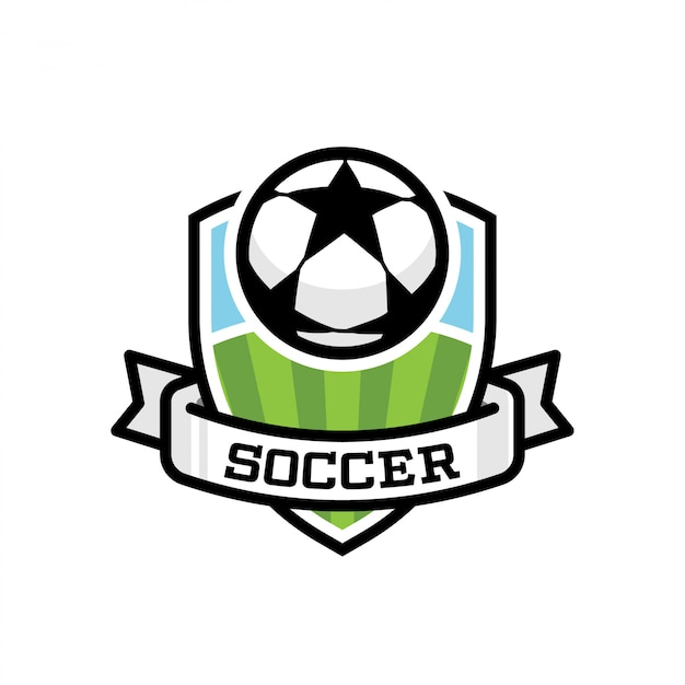 Logo de sport de soccer Vecteur Premium
