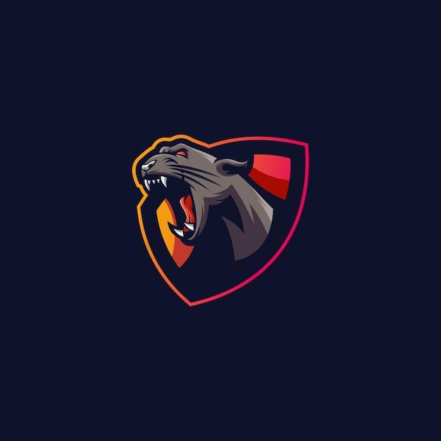 Logo de sport de tigre Vecteur Premium