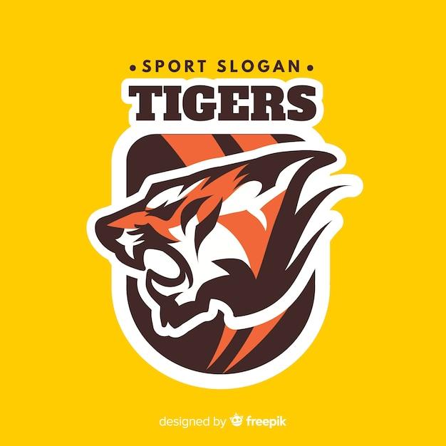 Logo sport tigre Vecteur gratuit