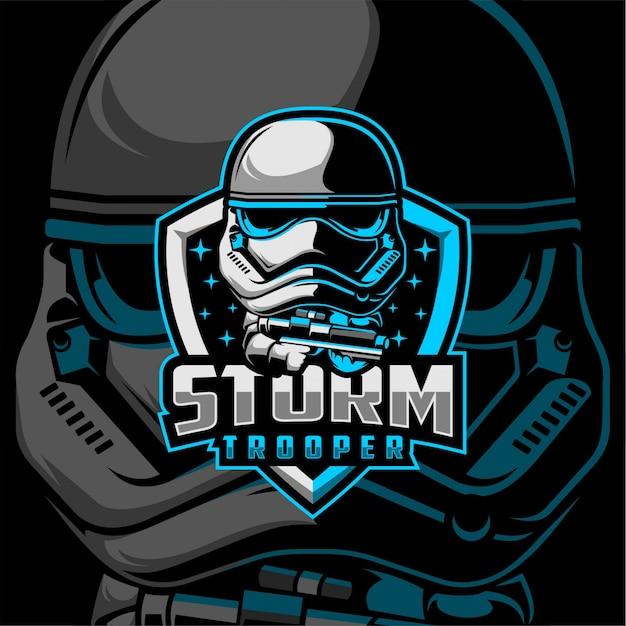 Logo Storm Trooper Vecteur Premium