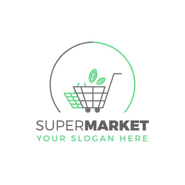 Logo De Supermarché Vecteur gratuit