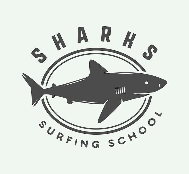 Logo de surf Vecteur Premium