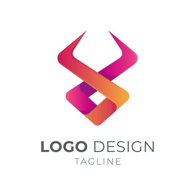 Logo De Taureau Simple Vecteur Premium