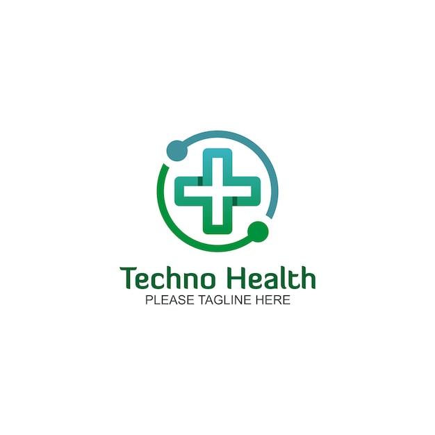 Logo techno santé Vecteur Premium