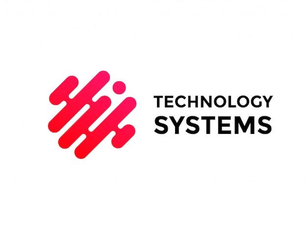 Logo De Technologie Simple Conception De Technologie Vecteur Premium