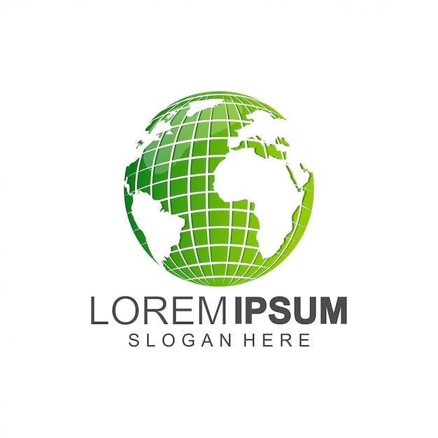Logo De La Terre Vecteur Premium