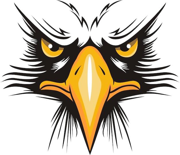 Logo tête d'aigle Vecteur Premium