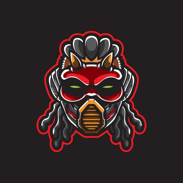 Logo De Tête Cyberpunk, Robot Humanoïde, Modèle | Vecteur Premium