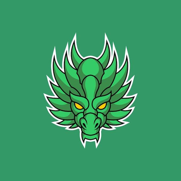 Logo Tête De Dragon Vecteur Premium