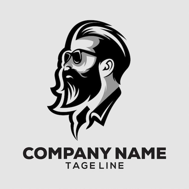 Logo Tête Masculine Vecteur Premium