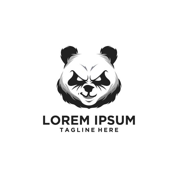 Logo tête de panda Vecteur Premium
