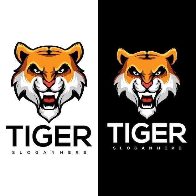 Logo De Tigre Vecteur Premium