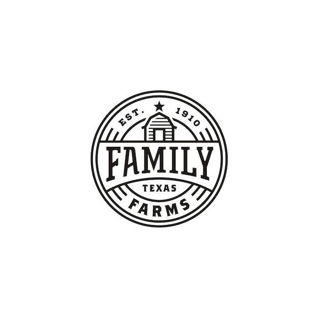 Logo de timbre vintage farm farm label Vecteur Premium