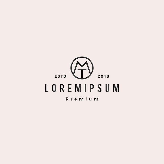 Logo tm mt Vecteur Premium
