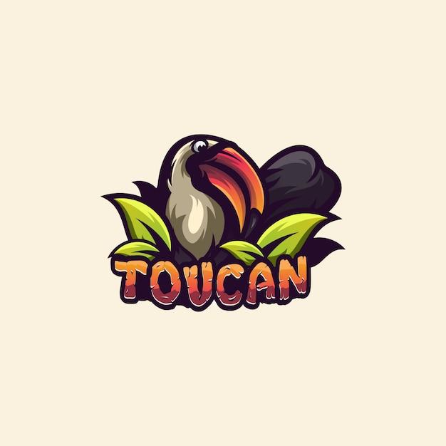 Logo toucan Vecteur Premium