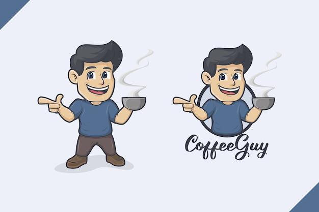 Logo De Type Café Vecteur Premium