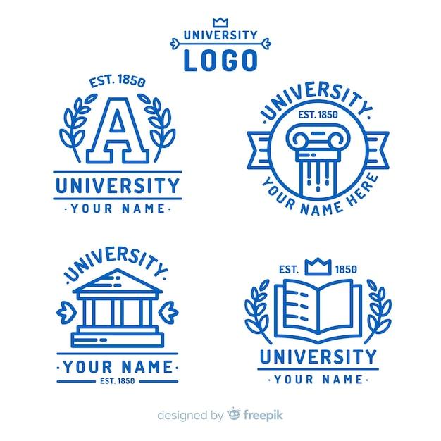 Logo de l'université Vecteur gratuit