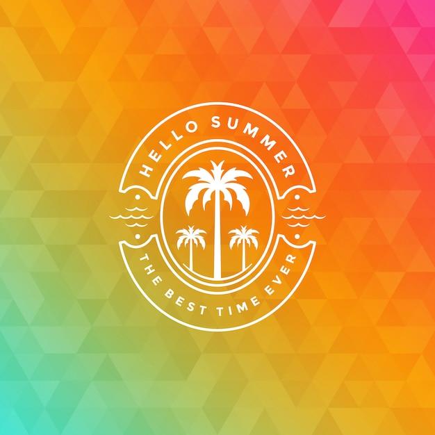 Logo De Vacances D'été Avec Design De Slogan De Typographie Vecteur Premium